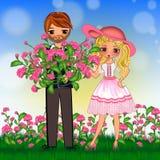 Spring summer couple stock photos