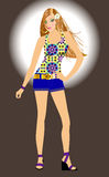 Spring Summer Fashion Girl Royalty Free Stock Photos