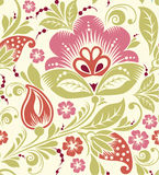 Spring Summer floral seamless pattern Royalty Free Stock Photo
