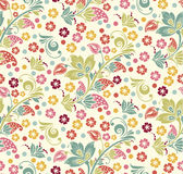 Spring Summer floral seamless pattern Stock Photography