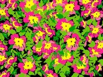 Spring summer Flowers in vintage style. Seasons Floral pattern Stock Photo