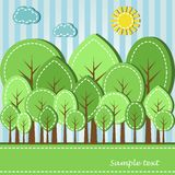 Spring or summer forest Stock Image