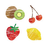 Spring and summer fruits illustration Royalty Free Stock Photography