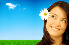 Spring or summer girl Stock Image