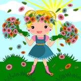 Spring summer girl Stock Photos