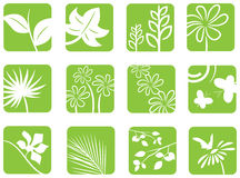 Spring-Summer Icons Royalty Free Stock Photography