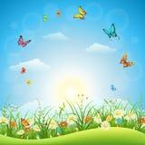 Spring or summer landscape Royalty Free Stock Image