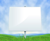 Spring Or Summer Landscape White Billboard Royalty Free Stock Photos