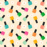 Spring summer nail polish color seamless pattern background illustration. Spring summer nail polish color seamless vector pattern background illustration Stock Photo