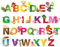 Spring, Summer, Nature and easter alphabet Royalty Free Stock Photography