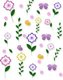 Spring summer floral pattern background Vector for drawing books, positive template Stock Images