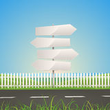 Spring Or Summer Road With White Arrow Signs Royalty Free Stock Image