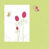 Spring summer rose greeting card Stock Image