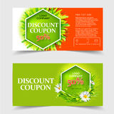 Spring and summer sale coupons Stock Image