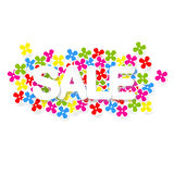 Spring or summer sale design with colorful flowers,  Royalty Free Stock Images