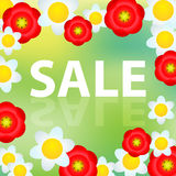 Spring and summer sale illustration Royalty Free Stock Photo