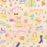 Spring summer season seamless background Stock Photo