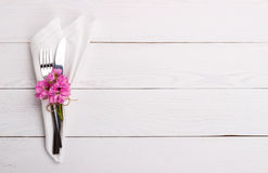 Spring or summer table setting Royalty Free Stock Photos