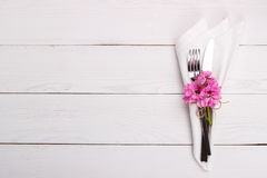 Spring or summer table setting Royalty Free Stock Images