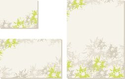 Spring-summer wedding templates (set 3) Royalty Free Stock Image