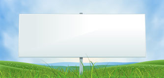 Spring Or Summer Wide White Billboard Royalty Free Stock Photos
