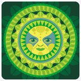 Spring Sun. Concentric decorative illustration of the spring sun Royalty Free Stock Photos