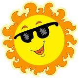 Spring Sun with sunglasses royalty free illustration