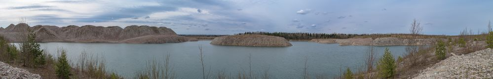 Submerged mine at spring Stock Photography