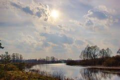 Spring sunlight landscape. royalty free stock images