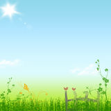 Spring sunny day. Beautiful  lanscape of spring sunny day Stock Image
