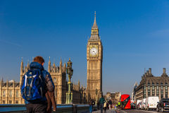 Spring sunny morning in Westminster, London Royalty Free Stock Photo