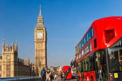 Spring sunny morning in Westminster, London Royalty Free Stock Images