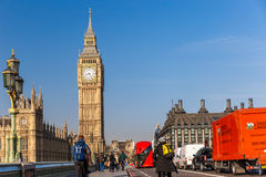 Spring sunny morning in Westminster, London Stock Photos