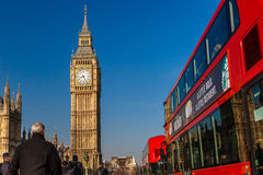 Spring sunny morning in Westminster, London Stock Image