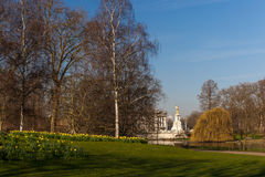 Spring sunny morning in Westminster, London Royalty Free Stock Photography