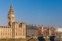 Spring sunny morning in Westminster, London Stock Photography