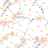 Spring sunny trees vector print Stock Photos