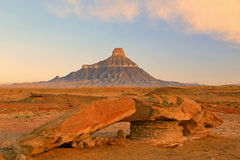 Spring sunrise at Factory Butte. Stock Image