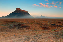 Spring sunrise at Factory Butte. Royalty Free Stock Photo