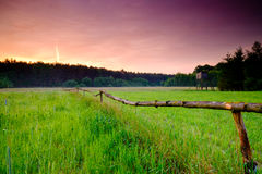 Spring sunrise landscape Royalty Free Stock Photography