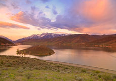 Spring sunrise in the Wasatch Mountains Stock Photo