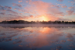 Spring Sunrise Whitford Lake Stock Photo