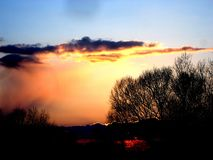 Spring sunset Royalty Free Stock Photography