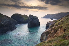 Spring sunset at high tide at Kynance Cove Stock Photo
