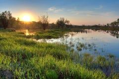 Spring Sunset Landscape Stock Photo