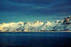 Spring sunset, Lofoten islands Stock Photo