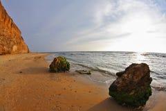 The spring sunset on Mediterranean sea Royalty Free Stock Photos