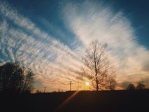 Spring sunset. Russian spring sunset Royalty Free Stock Image