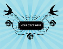 Spring swallow banner Royalty Free Stock Images