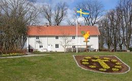 Spring in Swedish park Stock Photo